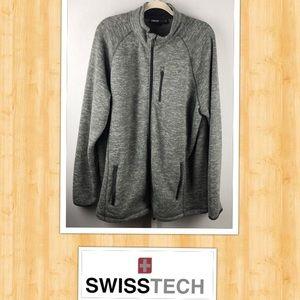 SWISSTECH Men's XL 46-48 Fleece Zip Up Jacket